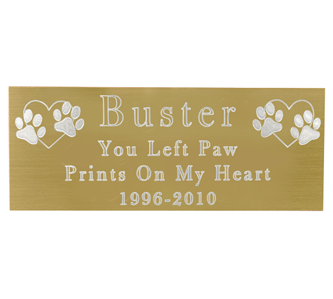 Gold engraved plaque